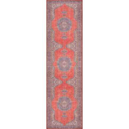 """Momeni Red Flat-Weave Medallion Floor Runner - 2'3""""x7'6"""" in Red - Closeouts"""