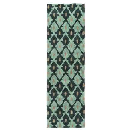 "Momeni Rio Floor Runner - 2'3""x7'6"" in Teal - Closeouts"