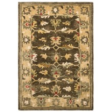 """Momeni Sedona Collection Area Rug - Hand-Knotted Wool, 3'9""""x5'9"""" in Khaki-Sd 07 - Overstock"""