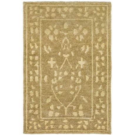 "Momeni Sedona Collection Hand-Knotted New Zealand Wool Area Rug - 5'6""x8'6"" in Beige"