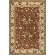 "Momeni Sedona Collection Hand-Knotted New Zealand Wool Area Rug - 5'6""x8'6"" in Garnet - Closeouts"