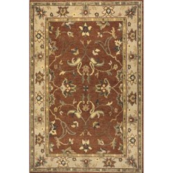 "Momeni Sedona Collection Hand-Knotted New Zealand Wool Area Rug - 5'6""x8'6"" in Garnet"