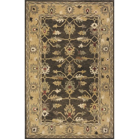 """Momeni Sedona Collection Hand-Knotted New Zealand Wool Area Rug - 5'6""""x8'6"""" in Khaki"""