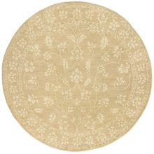 Momeni Sedona Collection Hand-Knotted New Zealand Wool Round Area Rug - 8' in Beige - Closeouts