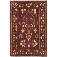 Momeni Sedona Collection Hand-Knotted New Zealand Wool Rug - 2x3' in Garnet - Closeouts