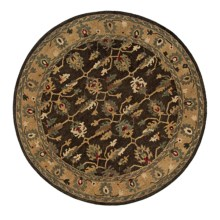 Momeni Sedona Collection Round Area Rug - Hand-Knotted Wool, 8' in Khaki-Sd 07 - Closeouts