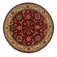 Momeni Sedona Collection Round Area Rug - Hand-Knotted Wool, 8' in Red-Sd 01 - Closeouts