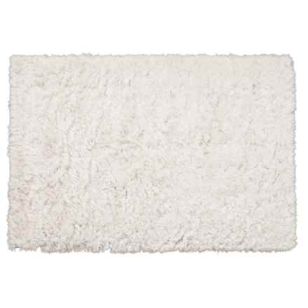 Momeni Soft Snow Textured White Shag Area Rug - 5x7' in White - Closeouts