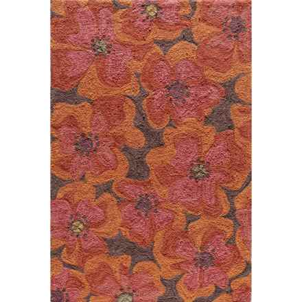 Momeni Summit Collection Area Rug - 8x10' in Raspberry - Closeouts