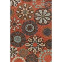 Momeni Summit Collection Area Rug - 8x10' in Terra Cotta - Closeouts