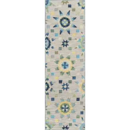 "Momeni Summit Collection Floor Runner - 2'3""x7'6"" in Grey - Closeouts"