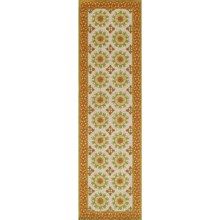 "Momeni Suzani Hook Collection Floor Runner - 2'3""x8', Wool in Ivory - Closeouts"