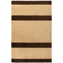 "Momeni Sydney Collection Gabbeh Wool Area Rug - 5'x7'6"" in Beige Syd1 - Overstock"