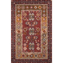 Momeni Tangier Collection Accent Rug - 2x3', Hand-Hooked Wool in Red - Closeouts