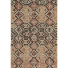 Momeni Tangier Collection Accent Rug - 2x3', Hand-Hooked Wool in Southwest Diamond - Closeouts