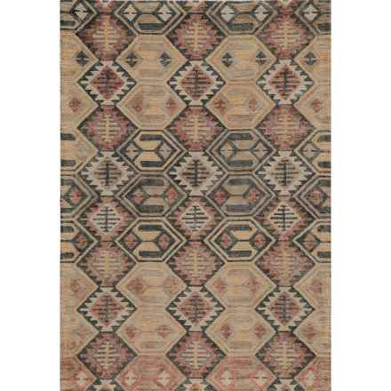 Momeni Tangier Collection Wool Area Rug - 5'x8' in Black/Orange Diamond - Closeouts