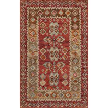Momeni Tangier Hand-Hooked Wool Area Rug - 8x11' in Red - Closeouts