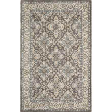 Momeni Tudor Collection Wool Accent Rug - 2x3' in Grey Lattice - Closeouts
