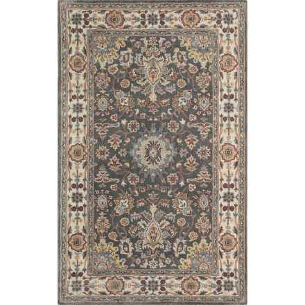 Momeni Tudor Collection Wool Accent Rug - 2x3' in Grey Medallion - Closeouts