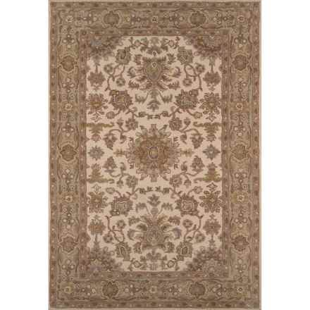 "Momeni Tudor Collection Wool Accent Rug - 3'6""x5'6"" in Beige Medallion - Closeouts"