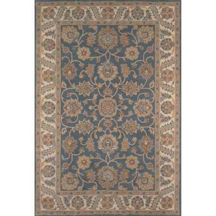 "Momeni Tudor Collection Wool Accent Rug - 3'6""x5'6"" in Blue Medallion - Closeouts"