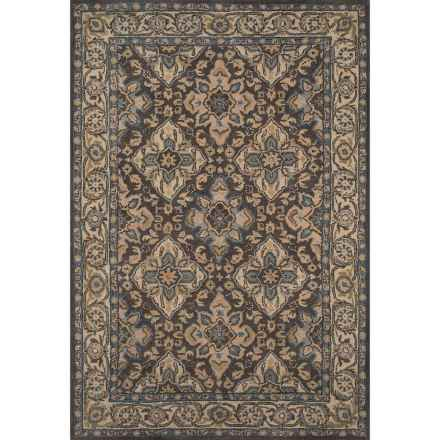 "Momeni Tudor Collection Wool Accent Rug - 3'6""x5'6"" in Grey Lattice - Closeouts"