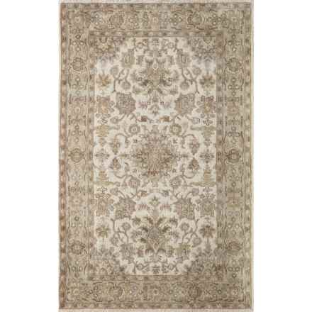 Momeni Tudor Collection Wool Area Rug - 8x11' in Beige Medallion - Closeouts
