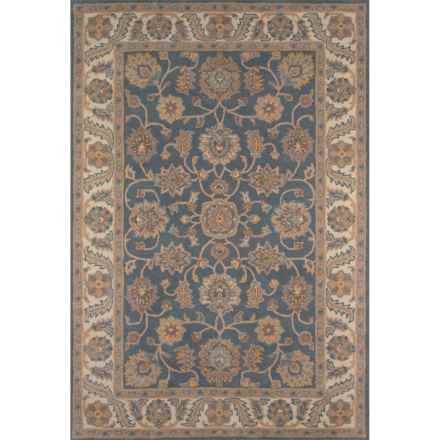 Momeni Tudor Collection Wool Area Rug - 8x11' in Blue Medallion - Closeouts