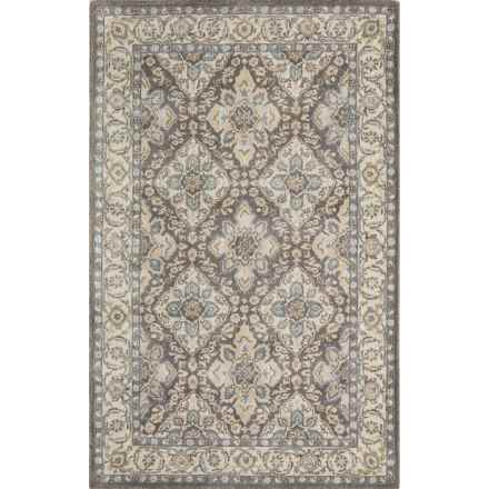 Momeni Tudor Collection Wool Area Rug - 8x11' in Grey Lattice - Closeouts