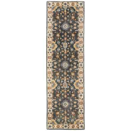 "Momeni Tudor Collection Wool Floor Runner - 2'3""x8' in Blue Medallion - Closeouts"