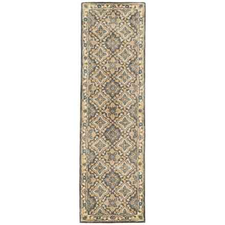 "Momeni Tudor Collection Wool Floor Runner - 2'3""x8' in Grey Lattice - Closeouts"