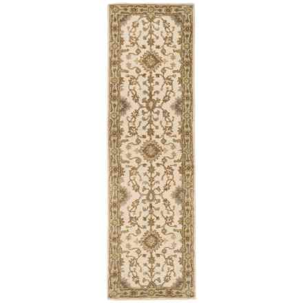 "Momeni Tudor Collection Wool Floor Runner Rug - 2'3""x8' in Beige Medallion - Closeouts"