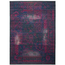 "Momeni Vintage Distressed Area Rug - New Zealand Wool, 5'3""x7'9"" in Blue Raspberry - Overstock"