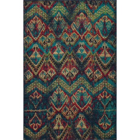"Momeni Vintage Distressed Area Rug - New Zealand Wool, 5'3""x7'9"" in Blue"