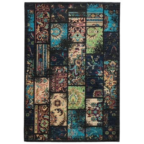 """Momeni Vintage Distressed Area Rug - New Zealand Wool, 5'3""""x7'9"""" in Charcoal"""