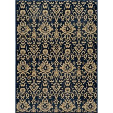 "Momeni Vintage Distressed Area Rug - New Zealand Wool, 5'3""x7'9"" in Indigo - Overstock"