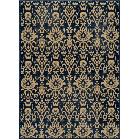 "Momeni Vintage Distressed Area Rug - New Zealand Wool, 5'3""x7'9"" in Indigo"
