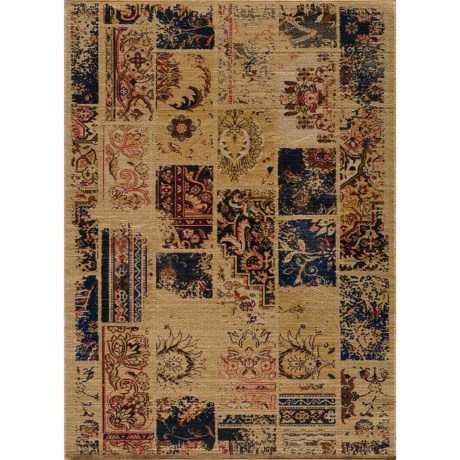 "Momeni Vintage Distressed Area Rug - New Zealand Wool, 5'3""x7'9"" in Sand"