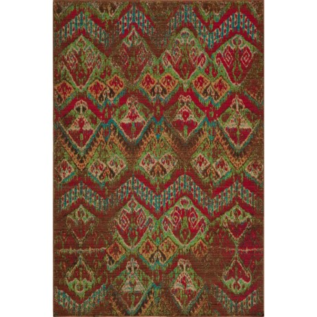 "Momeni Vintage Distressed Area Rug - New Zealand Wool, 5'3""x7'9"" in Vin-14 Raspberry"