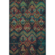 """Momeni Vintage Distressed Area Rug - New Zealand Wool, 7'10""""x9'0"""" in Blue - Overstock"""