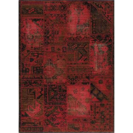 "Momeni Vintage Distressed Area Rug - New Zealand Wool, 7'10""x9'0"" in Raspberry"