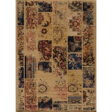 "Momeni Vintage Distressed Area Rug - New Zealand Wool, 7'10""x9'0"" in Sand - Overstock"