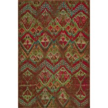 "Momeni Vintage Distressed Area Rug - New Zealand Wool, 7'10""x9'0"" in Vin-14 Raspberry - Overstock"