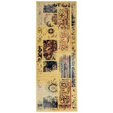"Momeni Vintage Distressed Floor Runner - New Zealand Wool, 2'7""x7'9"" in Sand - Overstock"