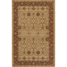 "Momeni Zarin Collection Area Rug - 5'6""x8'6"", Hand-Tufted Wool in Gold - Closeouts"