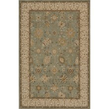 "Momeni Zarin Collection Area Rug - 5'6""x8'6"", Hand-Tufted Wool in Jade - Closeouts"