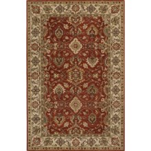"Momeni Zarin Collection Area Rug - 5'6""x8'6"", Hand-Tufted Wool in Spice - Closeouts"