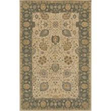 "Momeni Zarin Collection Area Rug - 9'6""x13'6"", Hand-Tufted Wool in Almond - Closeouts"