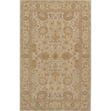 "Momeni Zarin Collection Area Rug - 9'6""x13'6"", Hand-Tufted Wool in Stone - Closeouts"