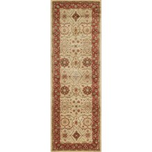 "Momeni Zarin Collection Floor Runner - 2'6""x8', Hand-Tufted Wool in Gold - Closeouts"